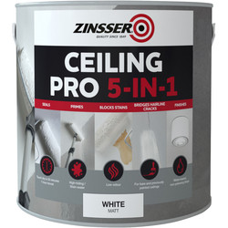 Zinsser Zinsser Ceiling Pro 5 in 1 Paint White 2.5L - 40718 - from Toolstation