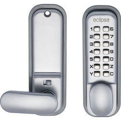 Eclipse Ironmongery ED20 Easy Code Change Digital Lock Satin Chrome - 40746 - from Toolstation