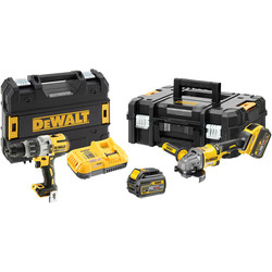 DeWalt DeWalt DCK2055T2T-GB XR 18V Li-Ion Combi Drill + 54V XR FlexVolt 125mm Angle Grinder 2 x 6.0Ah - 40761 - from Toolstation