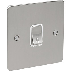 Flat Plate Satin Chrome 10A Switch Bell Push - 40856 - from Toolstation