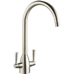 Deva Deva Snowdon Mono Mixer Kitchen Tap Brushed Steel - 40905 - from Toolstation
