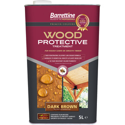 Barrettine Wood Protective Treatment & Preserver 5L Dark Brown - 41022 - from Toolstation