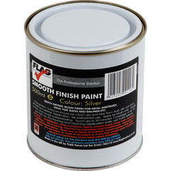 Flag Smooth Finish Metal Paint 500ml Silver - 41039 - from Toolstation