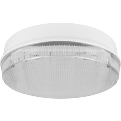 Fern Howard Fern Howard LED Trojan Round Galaxy IP65 Bulkhead 10W 900lm White Clear - 41079 - from Toolstation