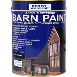 Bedec Bedec Barn Paint Satin Black 5L - 41126 - from Toolstation