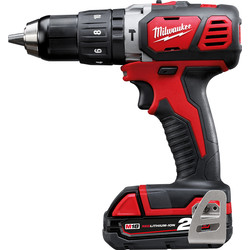 Milwaukee Milwaukee M18BPD-201C 18V Li-Ion Cordless Compact Combi Drill 1 x 2.0Ah - 41206 - from Toolstation