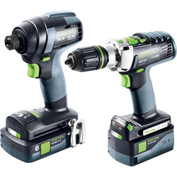 Festool Festool 18V Impact Drill Brushless TID18 PDC18 Set 1 x 5.2Ah & 1 x 4.0Ah - 41273 - from Toolstation