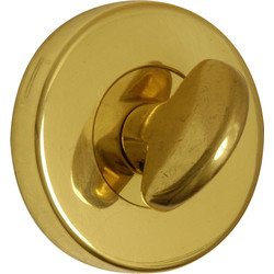 Urfic Urfic Bathroom Thumbturn Escutcheon Set Polished Brass - 41327 - from Toolstation