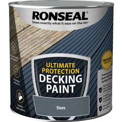 Ronseal Ronseal Ultimate Protection Decking Paint 2.5L Slate - 41331 - from Toolstation