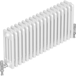 Tesni Oza 4 Column Horizontal Designer Radiator 600 x 828mm 4982Btu White