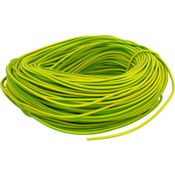 Unbranded PVC Earth Sleeving 100m 3mm Green / Yellow - 41371 - from Toolstation
