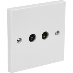 Axiom Axiom TV Socket Isolated Double - 41380 - from Toolstation