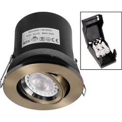 Fire Rated Adjustable IP20 GU10 Downlight
