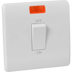 Scolmore Click Click Mode 45A DP Switch 1 Gang Neon - 41548 - from Toolstation