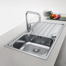 Franke Flash Reversible Stainless Steel Kitchen Sink & Drainer