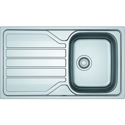 Franke Franke Flash Reversible Stainless Steel Kitchen Sink & Drainer Single Bowl - 41741 - from Toolstation
