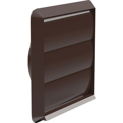 Verplas Wall Outlet Gravity Flap 100mm Brown - 41758 - from Toolstation
