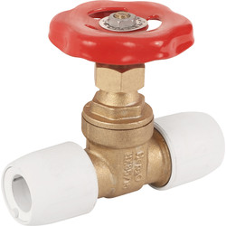 Hep2O Hep2O Gate Valve Hot / Cold 15mm - 41764 - from Toolstation