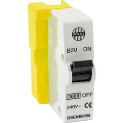 Wylex Wylex Plug in Breaker B Type 20A Yellow - 41848 - from Toolstation