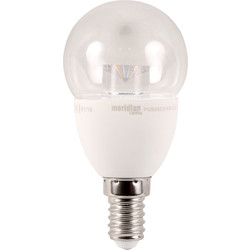 Meridian Lighting LED 5W Clear Globe Lamp SES (E14) 400lm - 41954 - from Toolstation