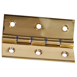 Eclipse Ironmongery Double Steel Washered Hinge Pol. Brass 75mm - 41982 - from Toolstation