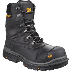 CAT Caterpillar Premier Hi-Leg Safety Boots Black Size 8 - 42052 - from Toolstation