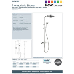 Deva Savvi Cool Touch Bar Shower