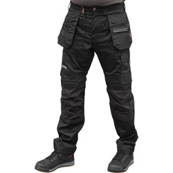 "Scruffs Scruffs Trade Flex Holster Pocket Trousers 36"" R Black - 42318 - from Toolstation"