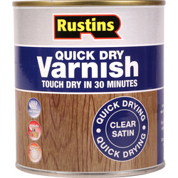 Rustins Rustins Quick Dry Varnish Satin Clear 500ml - 42344 - from Toolstation