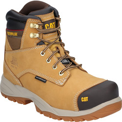 CAT Caterpillar Spiro Waterproof Safety Boots Honey Size 7 - 42402 - from Toolstation