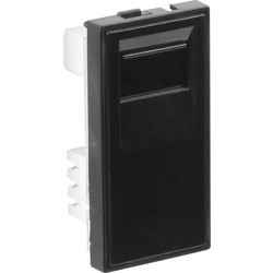 Euro Module Telephone Outlet BT Slave Black - 42421 - from Toolstation