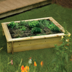 Rowlinson Rowlinson Raised Bed/Sandpit 24cm (h) x 120cm (w) x 120cm (d) - 42491 - from Toolstation