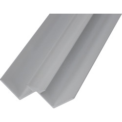 Mermaid Mermaid Laminate Shower Wall Panel Trims White Internal Corner - 42548 - from Toolstation