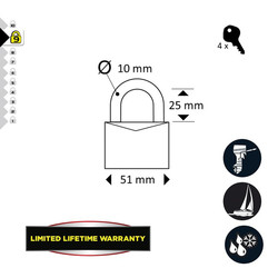 Master Lock EXCELL Stainless Steel Padlock