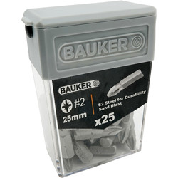 Bauker Bauker PZ2 Screwdriver Bits  - 42620 - from Toolstation