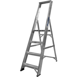 Lyte Ladders Lyte Industrial Platform Aluminium Step Ladder 4 Tread, Closed Length 1.60m - 42635 - from Toolstation