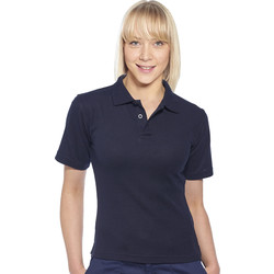 Womens Polo Shirt Large Navy