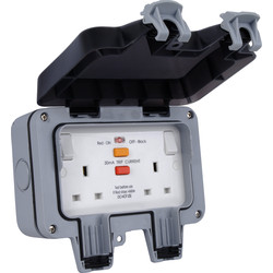 BG BG IP66 13A RCD Switched Socket 2 Gang - 42694 - from Toolstation