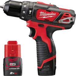 Milwaukee Milwaukee M12BPD-202C 12V Li-Ion Cordless Compact Combi Drill 2 x 2.0Ah - 42711 - from Toolstation