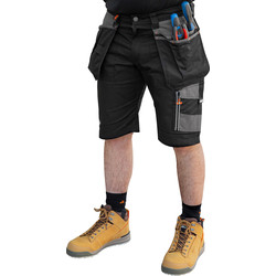 "Scruffs Scruffs Trade Holster Pocket Shorts 30"" Black - 42866 - from Toolstation"