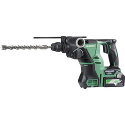 Hikoki Hikoki DH36DPA 36V MultiVolt Brushless Rotary SDS Plus 28mm Hammer Drill 2 x 2.5Ah Multivolt - 42922 - from Toolstation