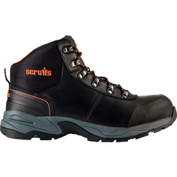 Scruffs Scruffs Assault Leather Hiker Black Size 10 (44.5) - 43000 - from Toolstation
