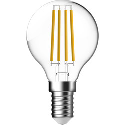 Energetic Lighting Energetic LED Filament Clear Ball Lamp 4W SES 470lm - 43061 - from Toolstation