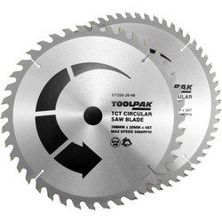 Toolpak Toolpak TCT Circular Saw Blades 300 x 30mm - 43066 - from Toolstation