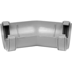Aquaflow 112mm Half Round Gutter Angle 150° Grey - 43176 - from Toolstation