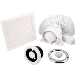 Xpelair Xpelair 100T 100mm Shower Extractor Fan Kit  - 43189 - from Toolstation