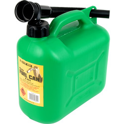Plastic Fuel Can Green 5L