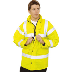 Hi Vis Highway Jacket Yellow Large - 43243 - from Toolstation