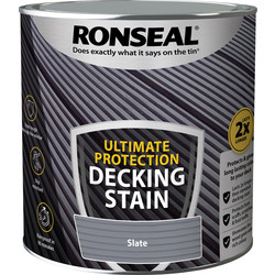 Ronseal Ronseal Ultimate Protection Decking Stain 2.5L Slate - 43254 - from Toolstation