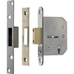 ERA Viscount 5 Lever Mortice Deadlock 64mm Chrome - 43317 - from Toolstation